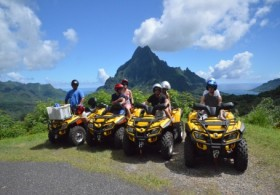 ATV Moorea Discovery Tour & Lunch at Moorea Beach Café