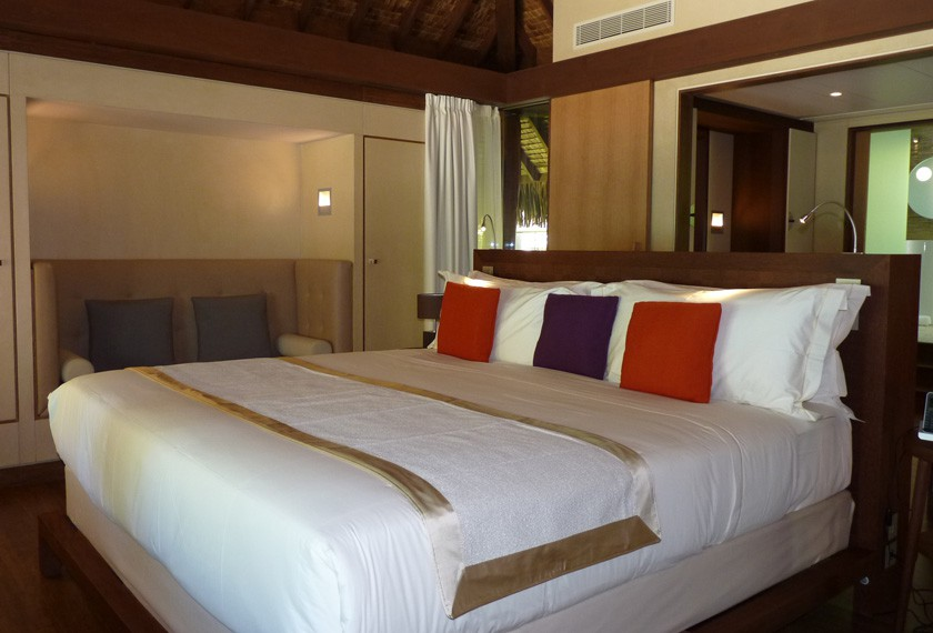 Bedroom of The Brando Resort on Tetiaroa's island