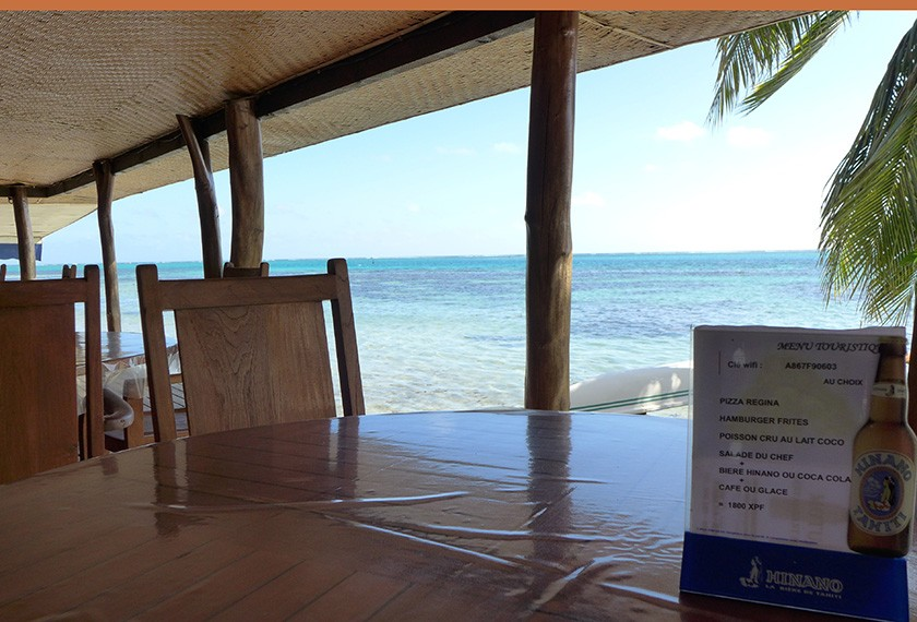 Public areas at Moorea Motu Iti pension