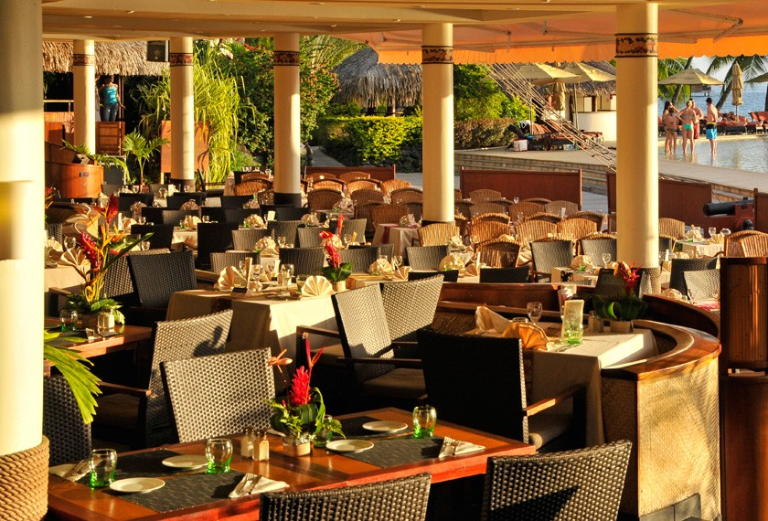 Restaurant of the hotel Intercontinental Tahiti
