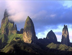 Vacations in Marquesan islands - Ua Pou monts