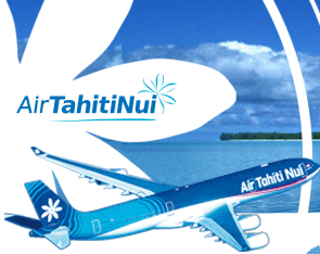 Airline compagnie heading to Tahiti