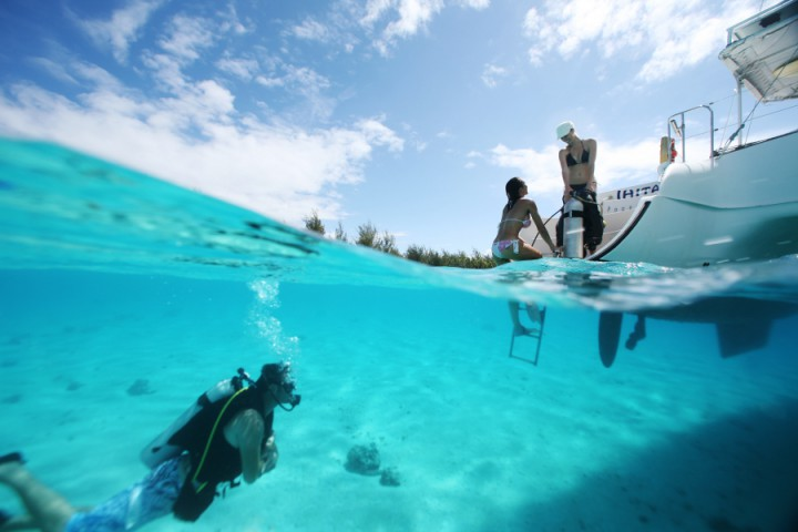 Diving in Bora Bora and Polynesian islands