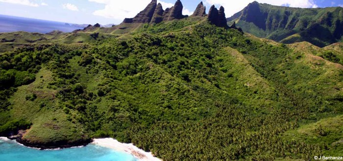 Nuku Hiva and its majestic mountains