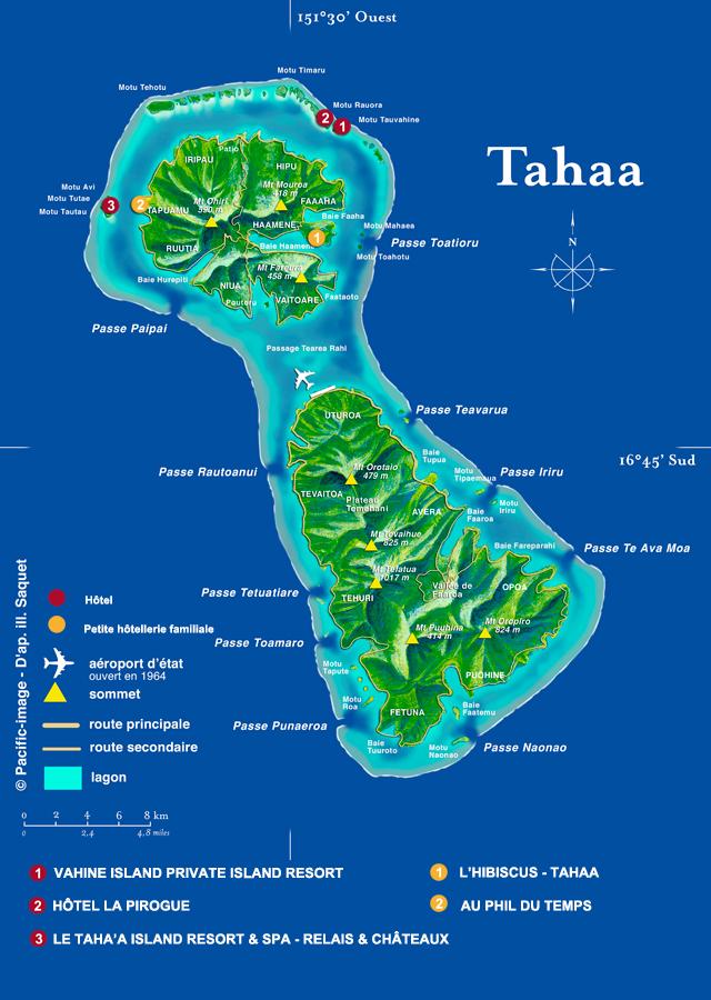 Raiatea Island Map