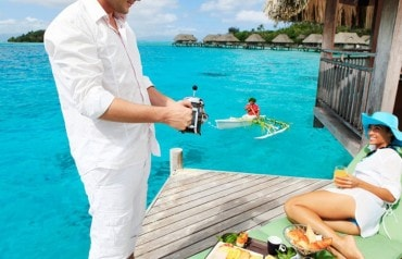 Private island overwater escape with free half board