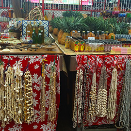 Necklaces in the Market of Papeete