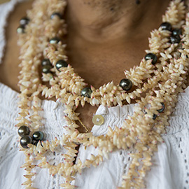 Polynesian seashield necklaces
