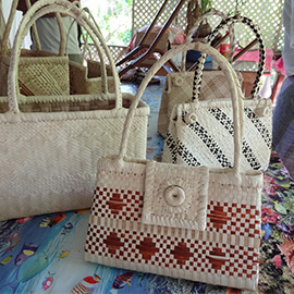 Polynesian purse crafted