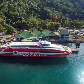 Terevau ferry, shuttle between Tahiti and Moorea