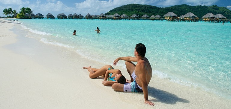 Day at beach in Bora Bora